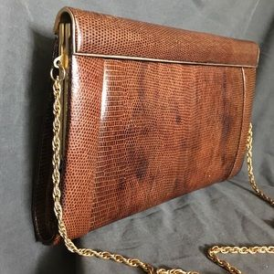 Handbags - Vintage Reptile Clutch / Shoulder Bag